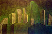 "Selim Birsel, ""Moss City"", ink on paper, 2014, dimensions variable"