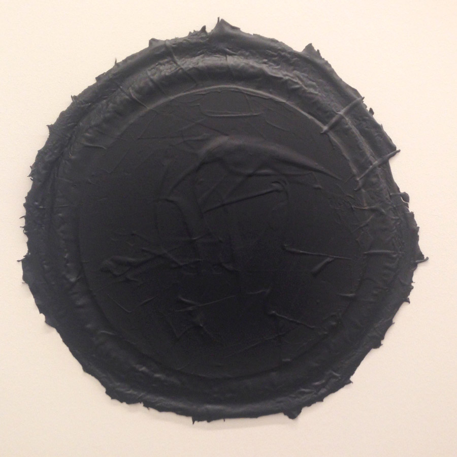 "Ayşe Erkmen, ""Payne's Gray"", acrylic on canvas, varying sizes, 2015 [White Screen Black Hole]"