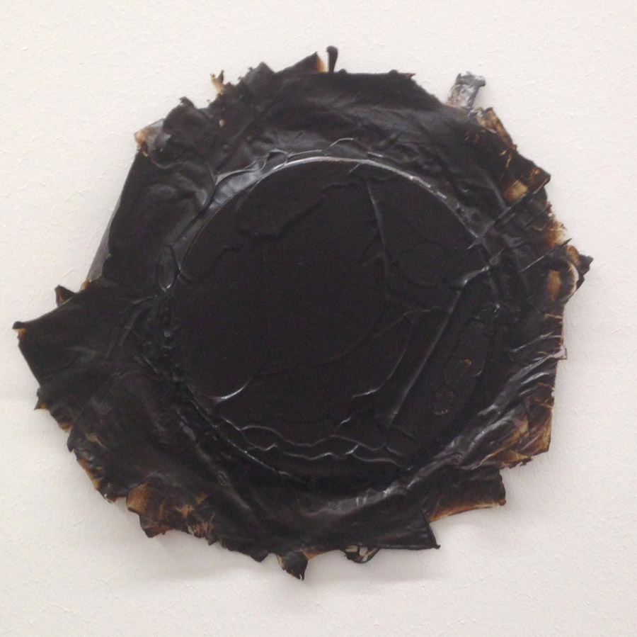 "Ayşe Erkmen, ""Van Dyke Brown"", acrylic on canvas, varying sizes, 2015 [White Screen Black Hole]"